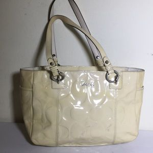 Make an offer.. coach leather small tote